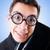 engraçado · nerd · empresário · gradiente · negócio · sorrir - foto stock © elnur