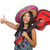 young attractive woman wearing sombrero on white stock photo © elnur