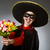 persona · sombrero · sombrero · funny · flores - foto stock © Elnur
