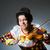 cello · viool · groot · afbeelding · kunst · nacht - stockfoto © elnur