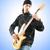 gitáros · izolált · fehér · zene · buli · háttér - stock fotó © elnur