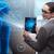 futuristic remote diagnostics concept with businesswoman stock photo © elnur