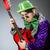 vicces · férfi · játszik · gitár · musical · zene - stock fotó © elnur