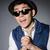 joven · azul · chaleco · sombrero · gris · feliz - foto stock © elnur