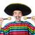 vicces · fiatal · mexikói · hamis · bajusz · izolált - stock fotó © elnur