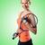 nő · teniszező · izolált · fehér · háttér · nyár - stock fotó © elnur