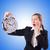 mulher · gigante · relógio · branco · escritório · trabalhar - foto stock © elnur