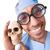 komik · doktor · yalıtılmış · beyaz · çalışmak · tıp - stok fotoğraf © elnur