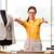 nő · szabó · dolgozik · új · ruházat · divat - stock fotó © elnur