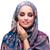 muszlim · nő · arany · borító · izolált · fehér - stock fotó © elnur