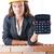 női · építész · számológép · fehér · nő · építkezés - stock fotó © elnur