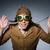 komik · pilot · gözlük · kask · adam · moda - stok fotoğraf © elnur