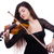 woman playing violin isolated on the white stock photo © elnur