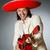 engraçado · mexicano · guitarra · isolado · branco · homem - foto stock © elnur