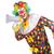 palhaço · alto-falante · isolado · branco · mulher · feliz - foto stock © elnur