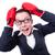 面白い · 小さな · ビジネスマン · ボクシンググローブ · 孤立した · 白 - ストックフォト © elnur