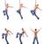 danser · dansen · geïsoleerd · witte · naakt · man - stockfoto © Elnur