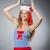 młoda · kobieta · marynarz · morskich · uśmiech · twarz · moda - zdjęcia stock © elnur