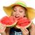 ritratto · bella · donna · mangiare · anguria · donna · rosso - foto d'archivio © elnur