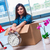 fiatal · nő · mozog · otthon · csomagol · dobozok · barna - stock fotó © elnur