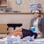 meşgul · stresli · kadın · sekreter · stres · ofis - stok fotoğraf © elnur
