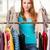 vrouw · kiezen · nieuwe · kleding · winkel - stockfoto © elnur