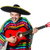 funny young mexican with guitar isolated on white stock photo © elnur