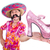 funny mexican with woman shoe on white stock photo © elnur