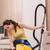 glimlachende · vrouw · huishoudelijk · werk · strijken · wasserij · home · vrouw - stockfoto © elnur
