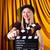 kadın · gangster · film · tahta · beyaz · güvenlik - stok fotoğraf © elnur