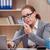 occupés · stressante · femme · secrétaire · stress · bureau - photo stock © elnur