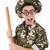 soldado · bate · de · béisbol · aislado · blanco · hombre · fondo - foto stock © elnur