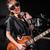 kobieta · gitarzysta · koncertu · muzyki · strony · tle - zdjęcia stock © elnur