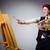 vrouw · kunstenaar · penseel · portret · mooie · blonde · vrouw - stockfoto © elnur