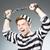 politie · gevangenis · bewoner · witte · vrouw · man - stockfoto © elnur