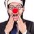 grappig · clown · zakenman · geïsoleerd · witte · business - stockfoto © elnur