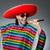 man wearing sombrero singing song stock photo © elnur