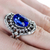 oro · anello · blu · brillante · femminile · mano - foto d'archivio © elnur