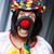 grappig · clown · kleurrijk · paraplu · glimlach · man - stockfoto © elnur