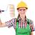 építőmunkás · furcsa · mosoly · háttér · munkás · ipari - stock fotó © elnur
