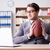 The businessman with american football in office stock photo © Elnur