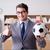 商人 · 足球 · 坐在 · 辦公桌 · 辦公室 - 商業照片 © elnur