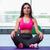 yoga · mujer · fitness · nina · blanco · meditación - foto stock © elnur