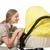 kobieta · wózki · dla · dzieci · odizolowany · biały · rodziny · dziewczyna - zdjęcia stock © elnur