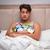 uomo · up · sveglia · salute · divano - foto d'archivio © elnur