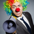 clown with loudspeaker in funny concept stock photo © elnur