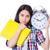 étudiant · répondre · fille · école · temps - photo stock © elnur