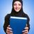 jóvenes · musulmanes · mujer · rezando · aislado · blanco - foto stock © elnur