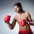 vechtsporten · vechter · vuist · witte · sport · strijd - stockfoto © elnur