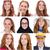 sorridere · facce · collage · felice · giovani · ragazze - foto d'archivio © elnur